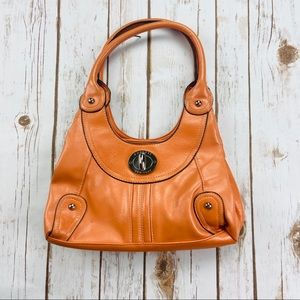 Rosetti New York Orange Faux Leather Hobo Bag